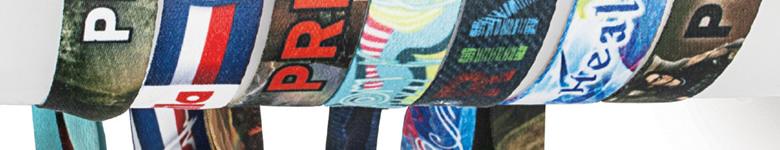 Stoffarmbänder bedruckt mit Aufdruck